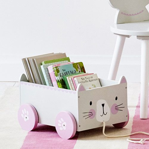 Book Storage Cart - Miss Cat | GLTC
