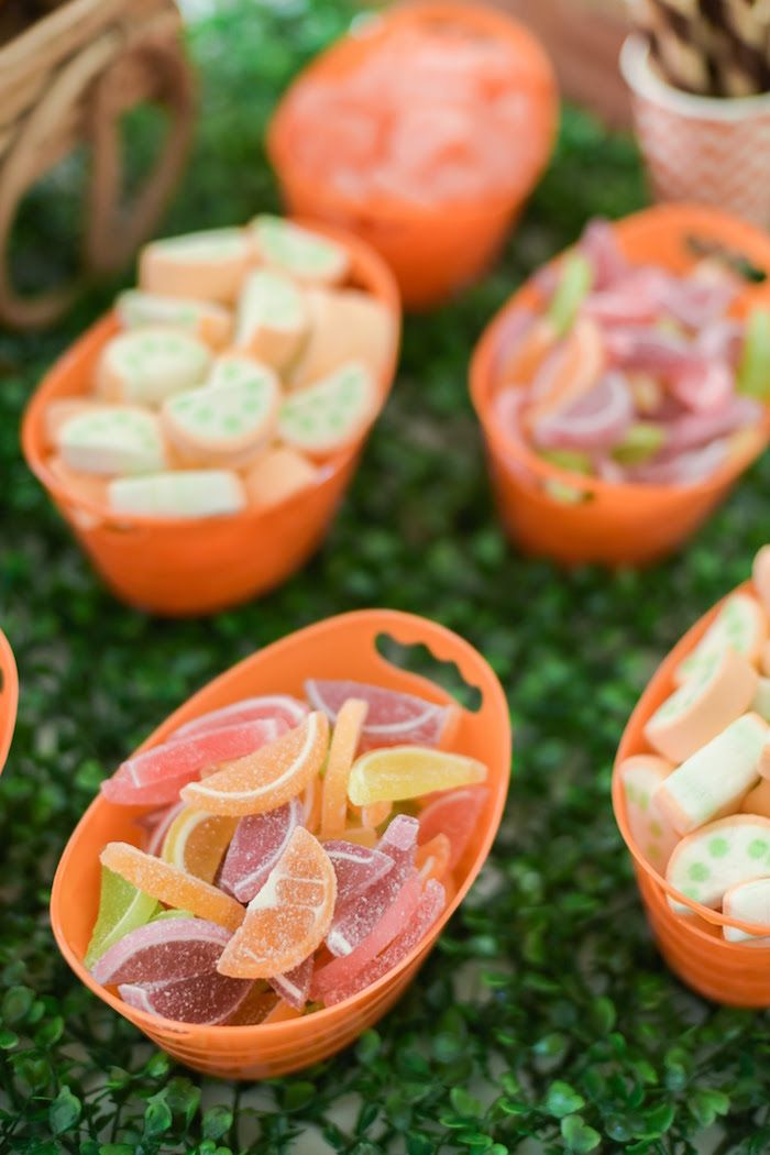 Party food from Citrus Harvest Birthday Party at Kara's Party Ideas. See more at karaspartyideas.com!