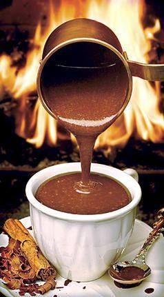 Chocolate quente. Hummm!