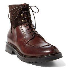 Levon Suede-Leather Boot - Ralph Lauren Boots - RalphLauren.com
