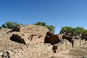 The Aztec Ruins National Monument preserves ancestral Pueblo structures in north-western New Mexico,United States, located close to the town of Aztec and northeast of Farmington, near the Animas River. Salmon Ruins and Heritage Park, with more ancestral Pueblo structures,lies a short distance to the south, just west of Bloomfield near the San Juan River. The buildings date back to the 11th to 13th centuries, and the misnomer attributing them to the Aztec civilization can be traced back to…