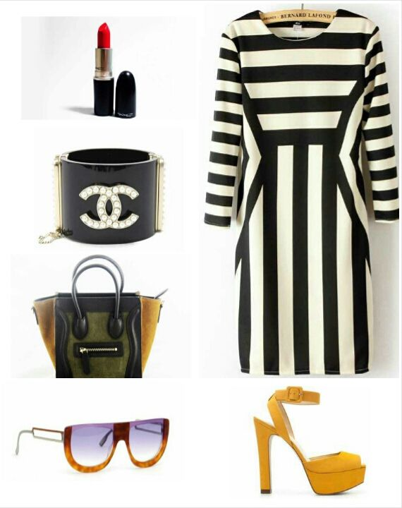 Style Me Be chic in La Femme Rebelle Clothing's Black and White Stripe Scoopneck Shift Dress. Pair it with a colorblock purse, bold heels, a statement cuff, femme sunnies and a classic red lip.... This look is PERFECT for church or Sunday Brunch