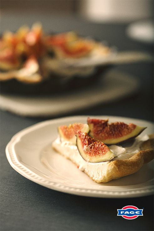 A dinner party dessert made to classic perfection: Fig Tart with FAGE Total.