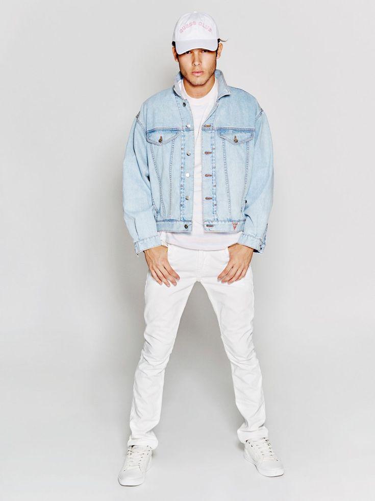 VESTE EN JEAN A$AP ROCKY Guess pas cher prix Veste en Jeans Homme 199.90 €