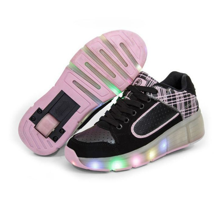 2016 New summer Breathable Child Shoes Mesh Shoes Sneakers With Wheels  Girls Boy LED Light Roller