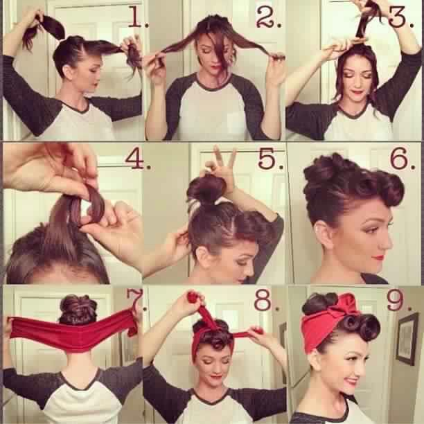 up-do.. bandana style