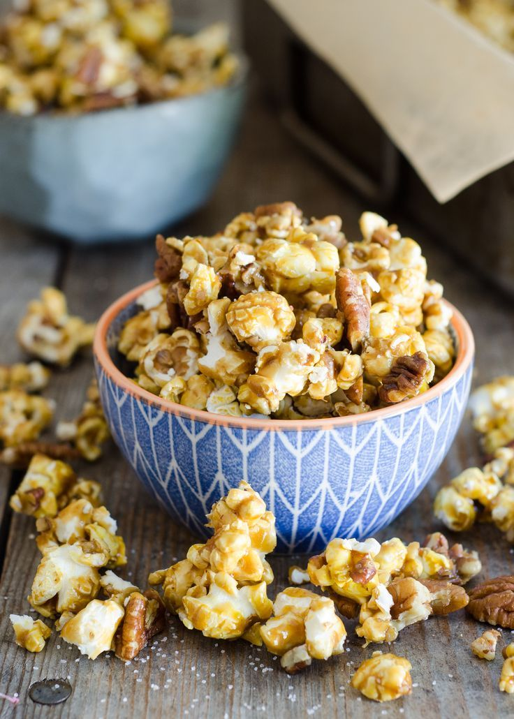 Salted Pecan Caramel Corn Recipe | Homemade caramel corn | caramel corn from scratch | healthy caramel corn