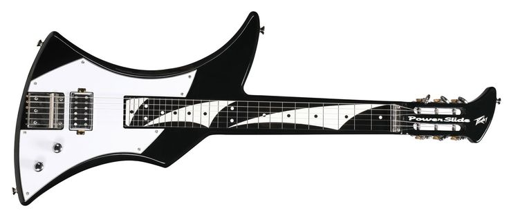 Peavey Power Slide - Black. Revolutionary next generation slide instrumentErgonomically designed for maximum playabilityPatent-pending multipoint strap systemAllows for multiple vertical and horizontal playing stylesUnique magnet loaded pickup with patented variable coil mode controlRadical patent-pending design provides unprecedented neck access in verticalplaying positionIncludes gig bag, slide and multipoint strap.