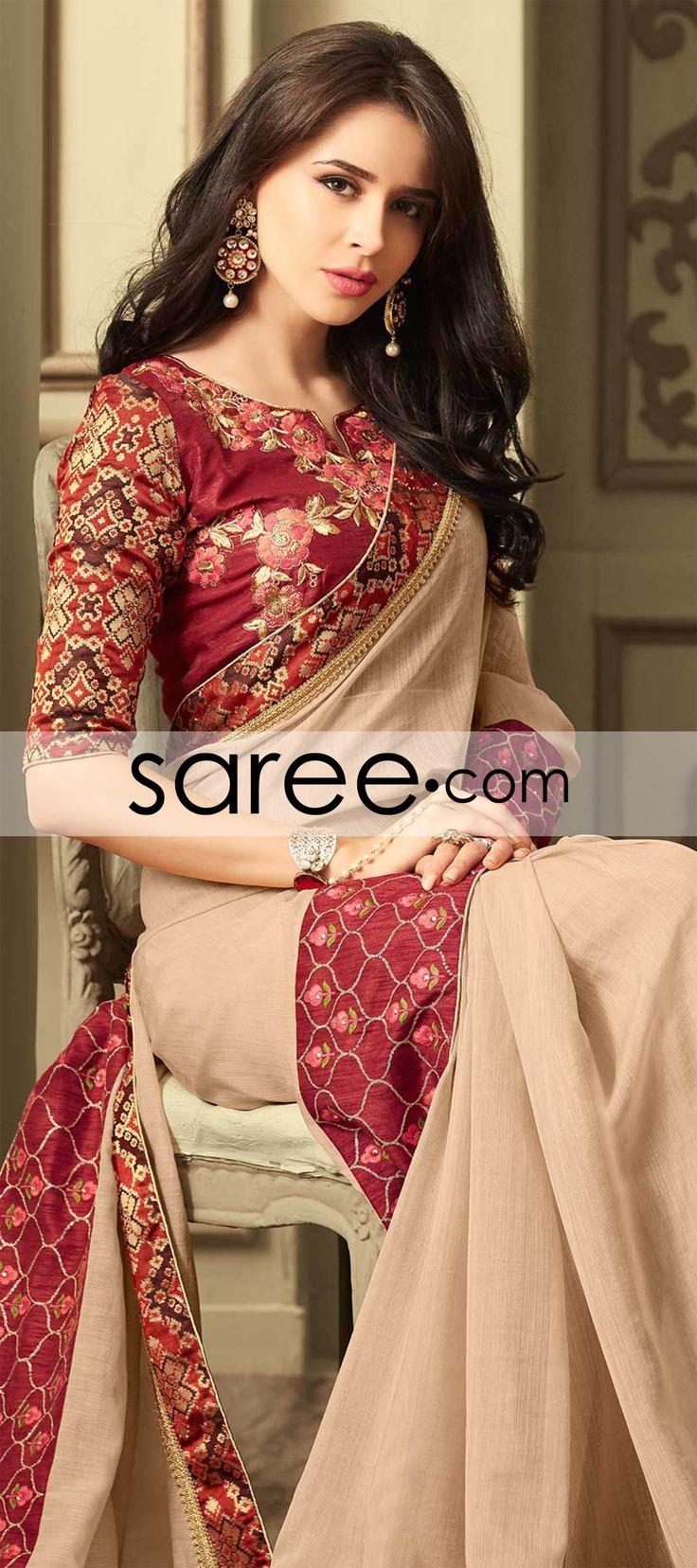 PEACH SILK SAREE WITH LACE  #Saree #ChiffonSarees  #GeorgetteSarees #IndianSaree #Sarees  #SilkSarees #PartywearSarees #WeddingSarees #BuyOnline #OnlieSarees #NetSarees #DesignerSarees #SareeFashion