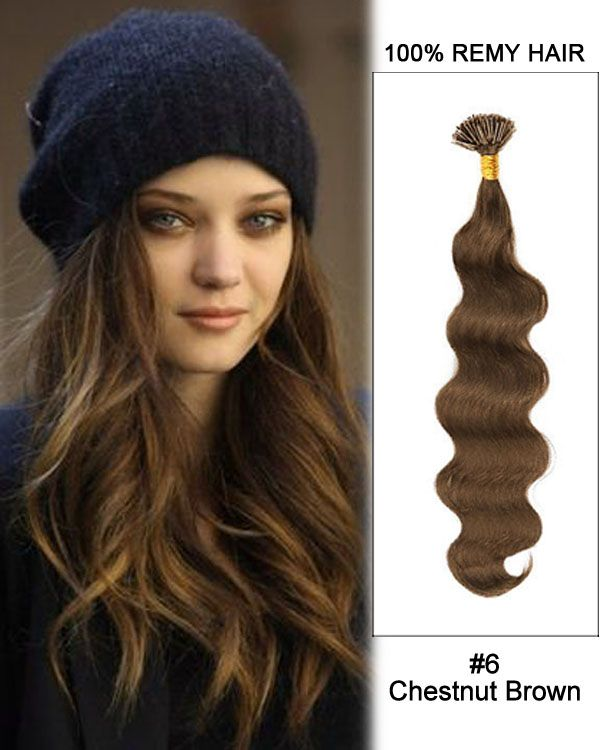 Best 25 keratin hair extensions ideas on pinterest extensions 14 6 chestnut brown body wave stick tip i tip 100 remy hair pmusecretfo Images