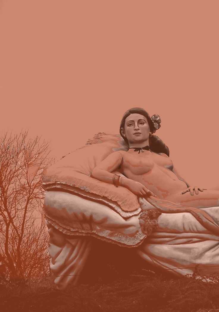 Reclining Lady. (Manet's Olympia) by J. Seward Johnson on exhibit at the Grounds for Sculpture in Hamilton, New Jersey (2015) Zippertravel.com Digital Edition