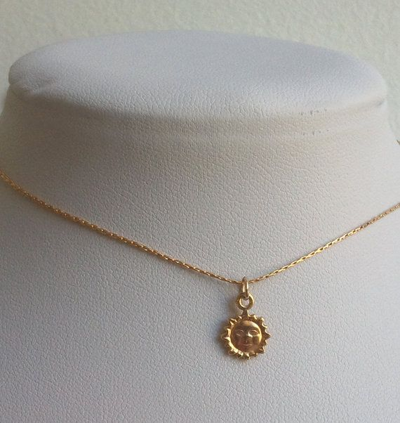 Delicate gold necklace tiny gold sun neckline necklace by Eliyan