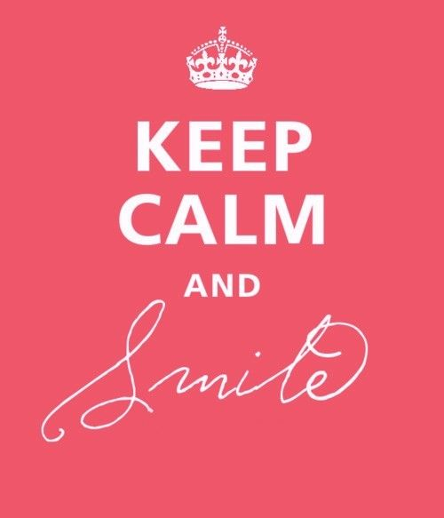 Smile even if its the least you can do it could make someone's day