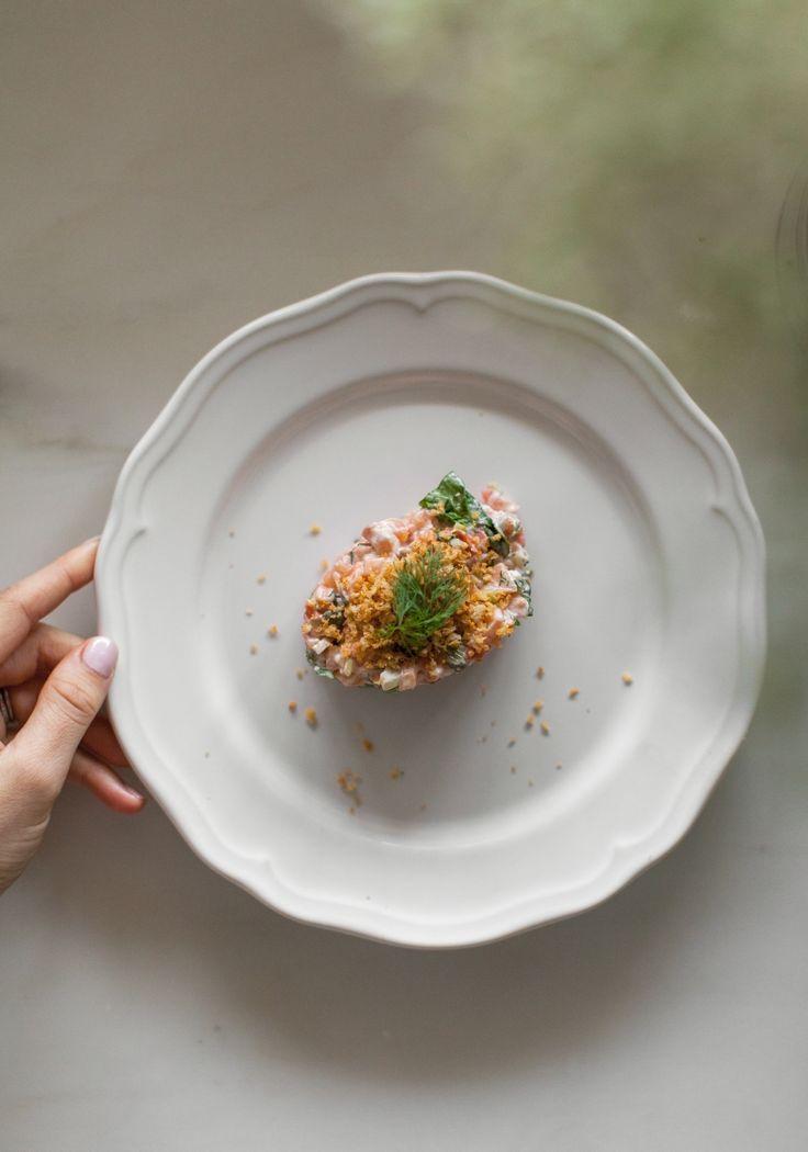 L'an dernier, ma recette de tartare de saumon