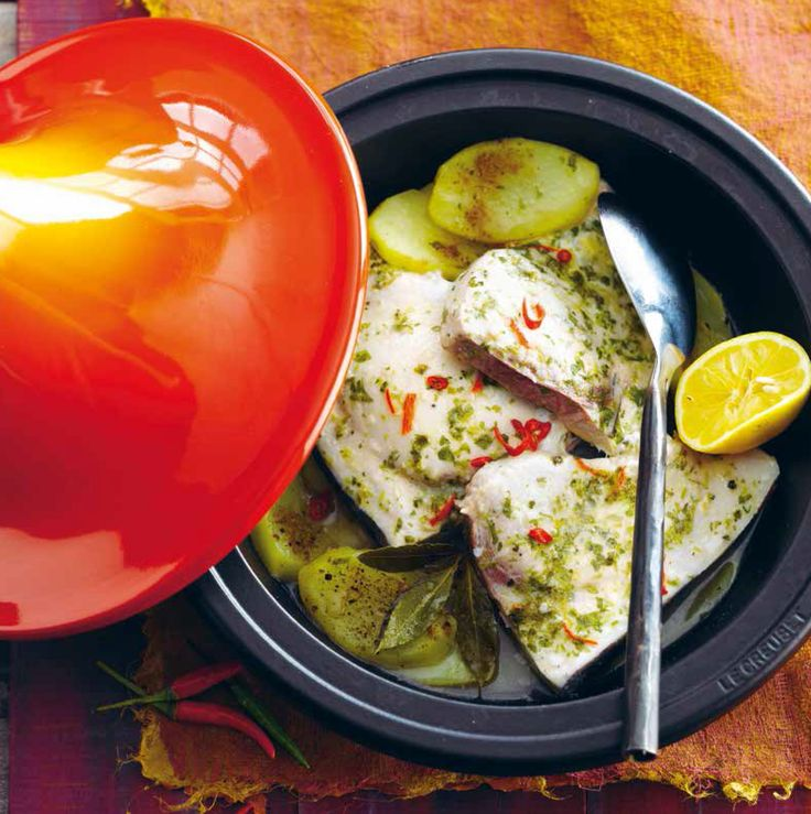 Le Creuset Tagine (Swordfish with Lemon and Coriander)
