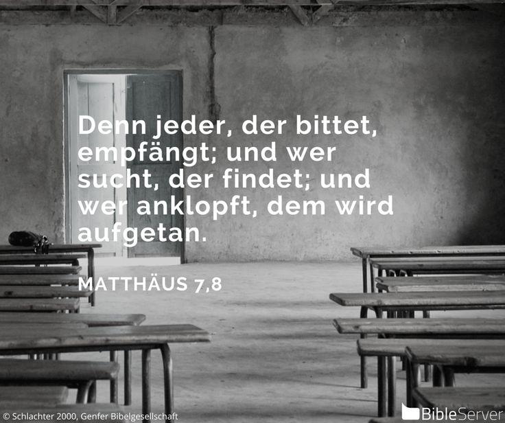 Nachzulesen auf BibleServer | Matthäus 7,8