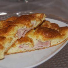 Low Carb oder Dukan Croissant mit Schinken und Käse