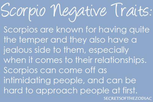 THE WORLD OF ASTROLOGY: Negative traits of Scorpio