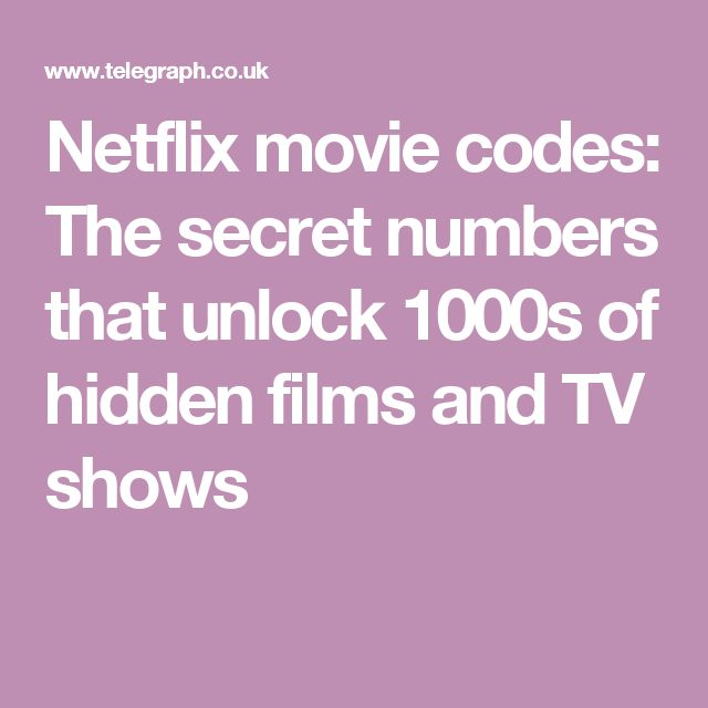Netflix movie codes: The secret numbers that unlock 1000s of hidden films and TV shows