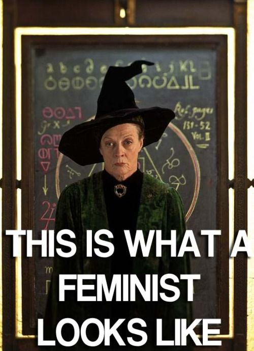 Harry Potter and feminism? Doesn't get much better than that. I love Professor Mcgonagall.