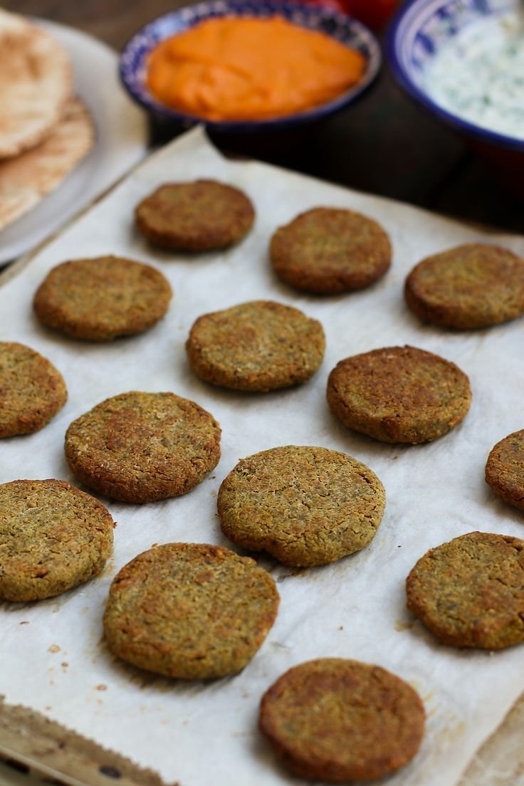 Baked Green Pea & Chickpea Falafels in 2020 Food