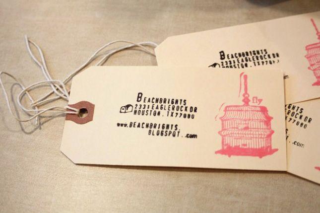 creative DIY business card - tag