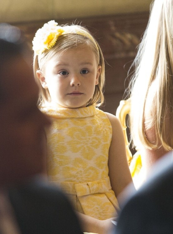 Princess Ariane of the Netherlands looks on during the Act of Abdication by her grandmother Queen Beatrix of the Netherlands in the Moseszaal at the Royal Palace on 30 April 2013