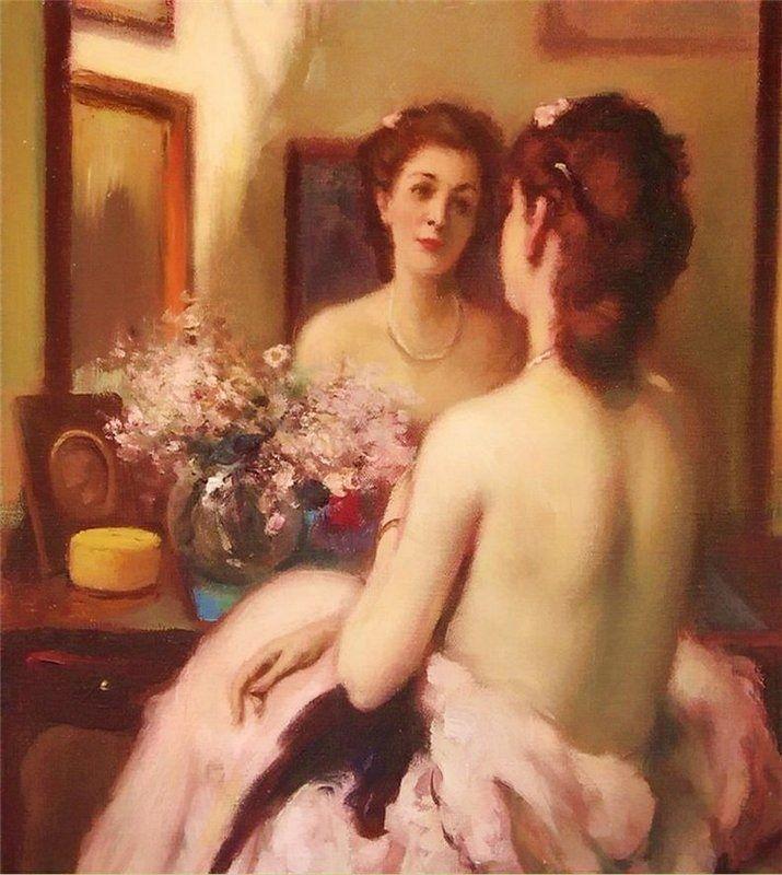 Fernand Toussaint (1873 - 1956 ) - Au Boudoir