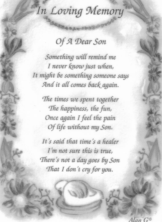 In Memory of my Son Donald.