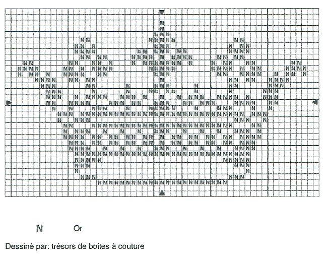 """point de croix """" couronne royale """"  épinglé sur le site  """"trésors de boites à…"""