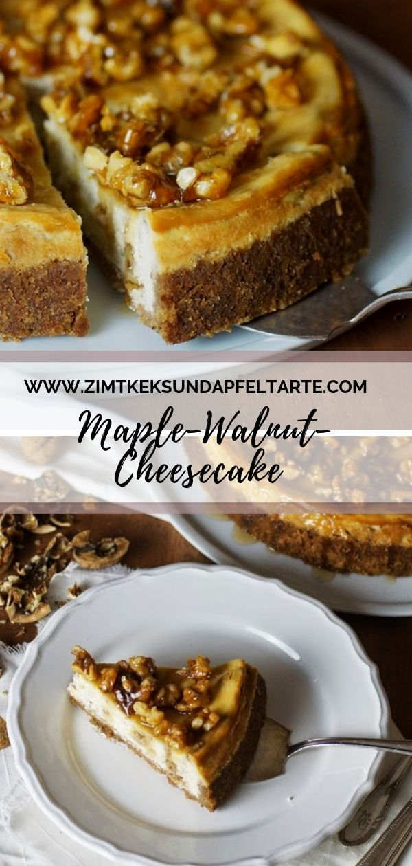 Maple Walnut Cheesecake – Cheesecake with walnut and maple syrup