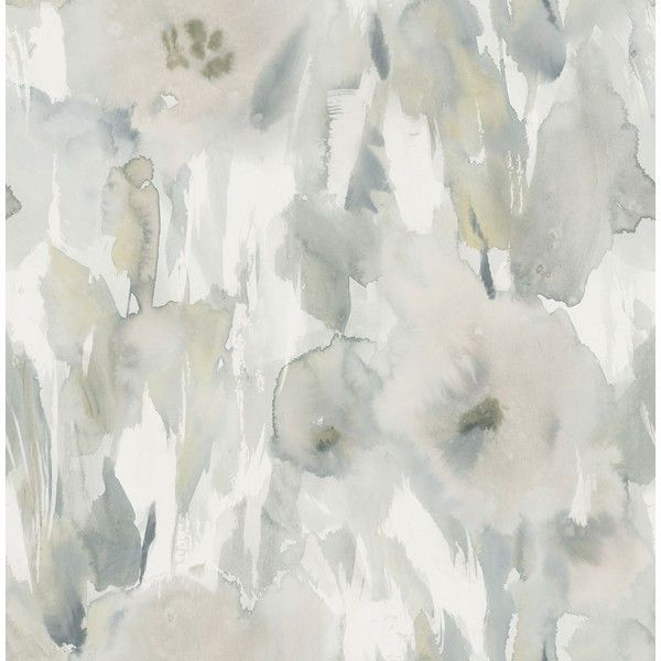 Watercolor Floral Wallpaper in Greys and Neutrals from the L'Atelier... ($52) ❤ liked on Polyvore featuring home, home decor, wallpaper, wallpaper samples, grey floral wallpaper, flower pattern wallpaper, floral pattern wallpaper, floral wallpaper and grey home decor
