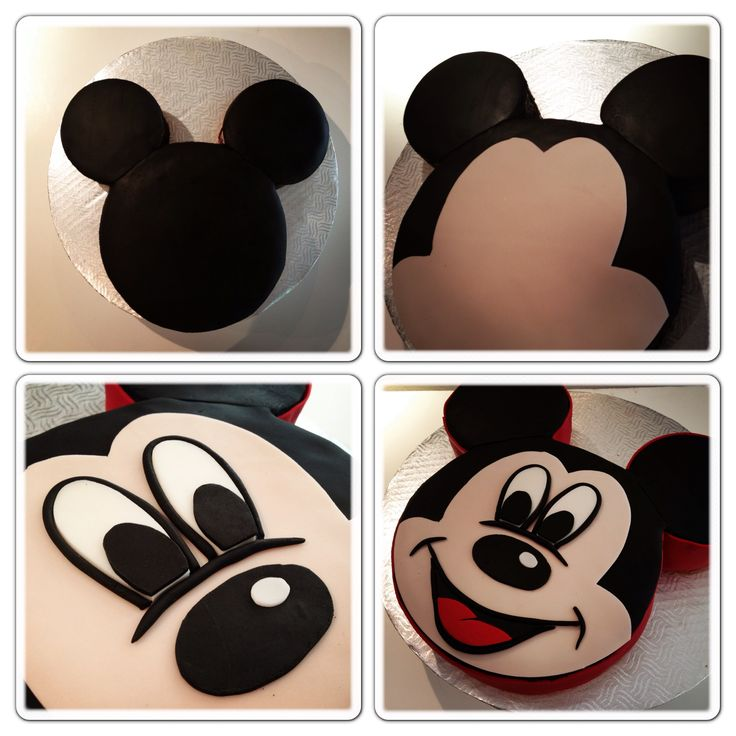 Labkry Mickey Mouse Cake Tutorial Pinterest 2nd