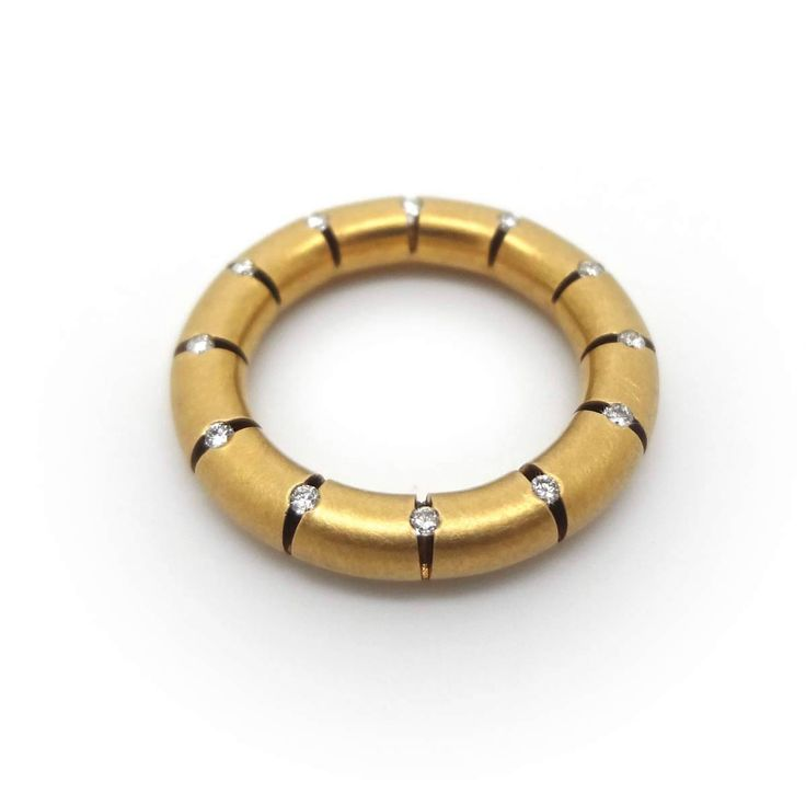 www.ORRO.co.uk Hans Ufer - Gold & Diamond Life Buoy Wedding Ring - ORRO Contemporary Jewellery Glasgow...