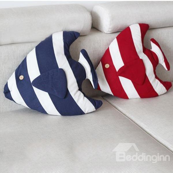 Mediterranean Style Tropical Fish Design Throw Pillow - beddinginn.com