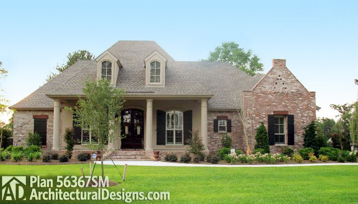 Roomy French Country Home Plan - 56367SM   Acadian, European, French Country, Southern, Photo Gallery, 1st Floor Master Suite, Bonus Room, Butler Walk-in Pantry, Jack & Jill Bath, PDF, Corner Lot   Architectural Designs