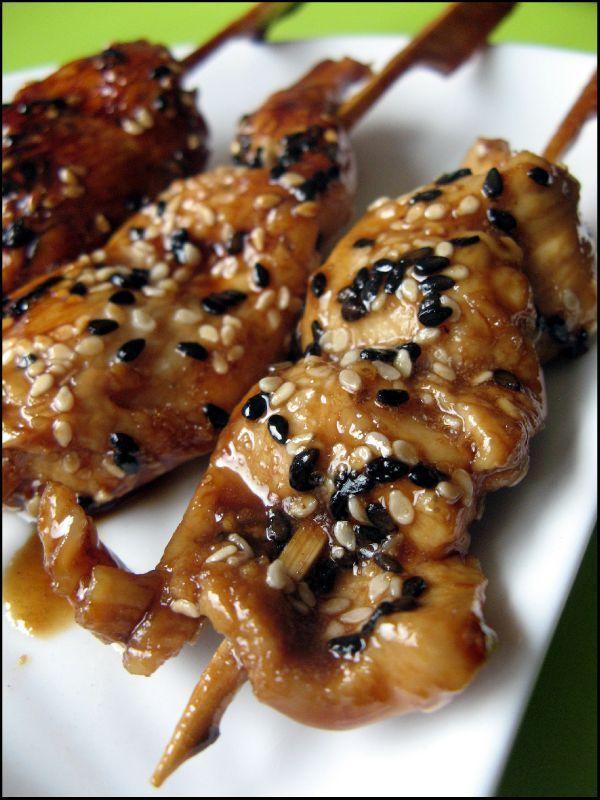 Poulet au sésame grillé, sauce teriyaki et un livre à gagner !