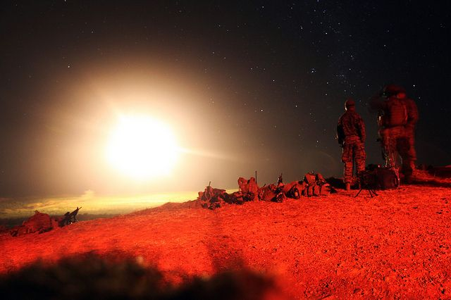 Marines light up the sky with artillery and mortar fire in Australia. (U.S. Marine Corps photo by Cpl. Michael Oxton/Released)
