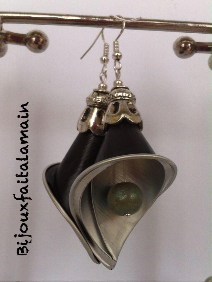 DIY Nespresso: Comment faire des boucles d'oreilles Fleur de Lys Brincos de capsulas Pendientes con capsulas Orecchini con cialde Nespresso