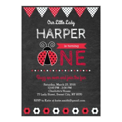 #Ladybug Birthday Invitation - #birthdayinvitation #birthday #party #invitation #cool #invitations