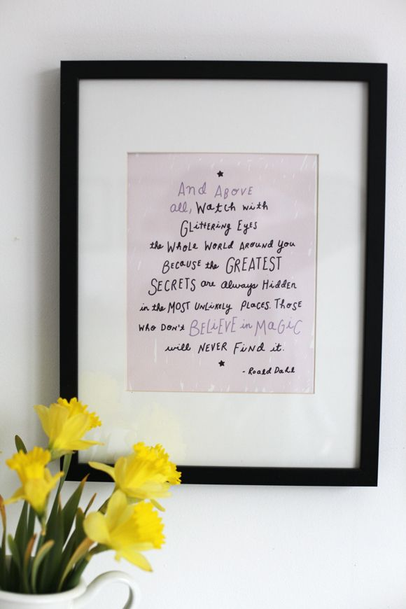 free printable Roald Dahl quote in honor of @Carla // small + friendly and @Lacy Stroessner // LIVING ON LOVE #virtualbabyshowersrock