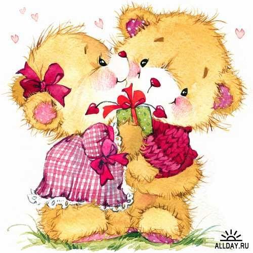 Illustration of teddy bear soft toys - 25 HQ Jpg