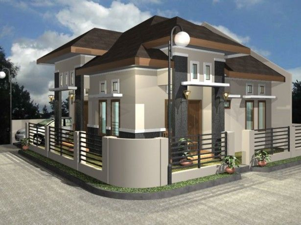 House Design Remarkable Modern Design Home Plans With Grey Concrete Fence Also Teak Wood Door And Teak Wood Window Frame For Minmalist Home Ideas F