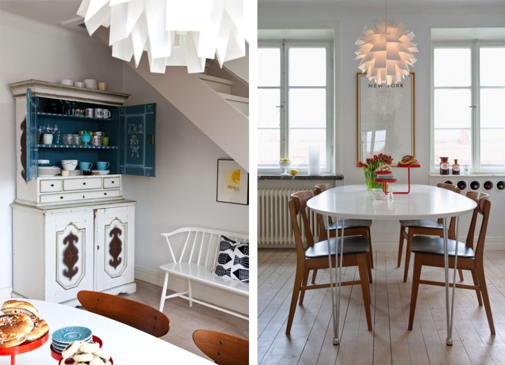 check out the wine rack built into the wall.: Swedish Apartment, Floors Apartment