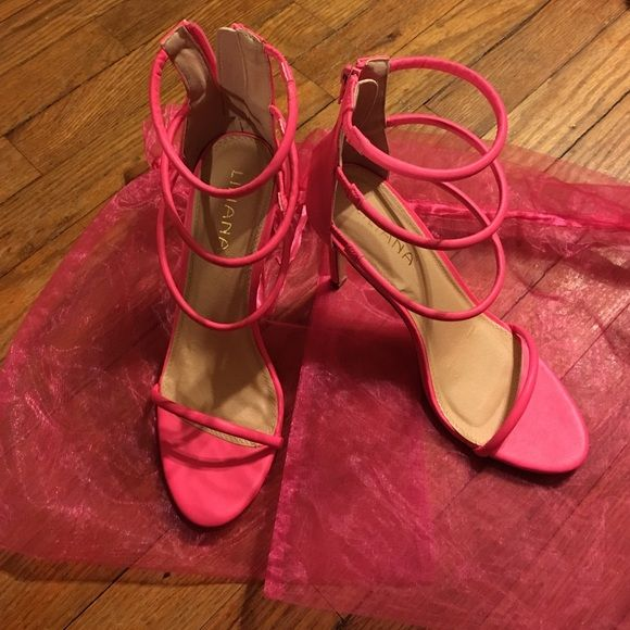 Pink Strappy Heels *Worn Once*  Like New  Lola Shoetique Shoes Heels