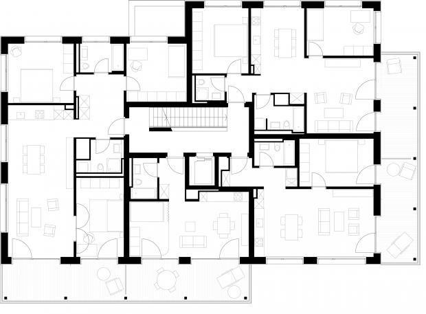 1000 ideen zu grundriss mehrfamilienhaus auf pinterest for Mehrfamilienhaus grundriss modern
