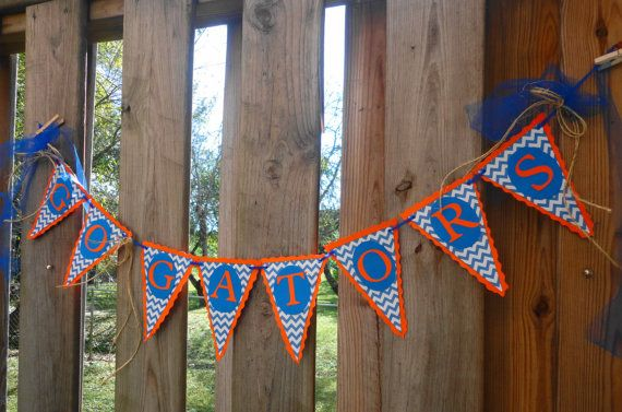 Florida Football Go Gators Party Banner by PaperBlissByNancy, $9.50