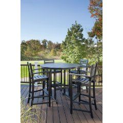 This set is on the Top 5 List - the Trex Outdoor Furniture Monterey Bay 5 Piece Bar Height Patio Set - click thru to check it out or visit Top 5 Bar Height Patio Sets - for living the high life on... click thru to review the list or visit http://www.topfivecollections.com/bar-height-patio-set to see the list!