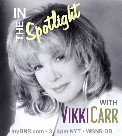 """""""In The Spotlight with Vikki Carr"""" is a monthly show celebrating the music of the acclaimed multi Grammy Award-winning singer, and is presented by me on Baltimore Net Radio the third week of every month."""