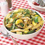 Pasta Salad with Eggplant, Zucchini and Squash Recipe   MyRecipes.com